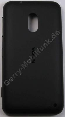 Akkufachdeckel schwarz Nokia Lumia 620 B-Cover wrapped black Unterschale, Backcover incl. Headset Konnektor, Headsetbuchse, Lautstärketaste, Kamerataste, Einschalttaste Powerkey