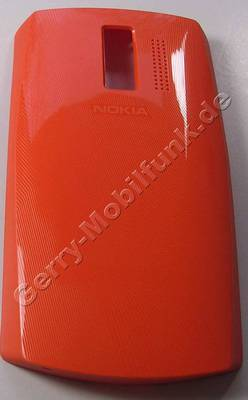 Akkufachdeckel orange Nokia Asha 205 SingleSim original Batteriefachdeckel orange