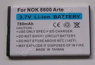 Akku Nokia 6600i Slide Li-Ion 780mAh 4,8mm Akku vom Markenhersteller mit 12 Monaten Garantie, nicht original Nokia (entspricht BL-4U)