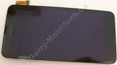 Displaymodul, Touchpanel Nokia Lumia 630 original Frontcover mit Displayscheibe, LCD-Display, Touchscreen, Digitizer, CARE DISPLAY & WINDOW FRAME ASSEMBLY