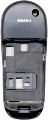 Gehäuseunterteil Siemens S45 galaxy black incl. interner Antenne, Seitenschalter, Seitentasten, Infrarotfenster, Simkartenhalter