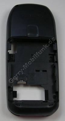 Unterschale Siemens A70 palladium, schwarz original Back Cover, Gehäuseträger incl. interne Antenne, Vibrationsmotor, Mikrofon, Simkartenhalter