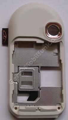 Unterschale Tastatur pink original Nokia 7370 D-Cover, incl. Kamerascheibe und Ladekonnektor, Simkartenhalter