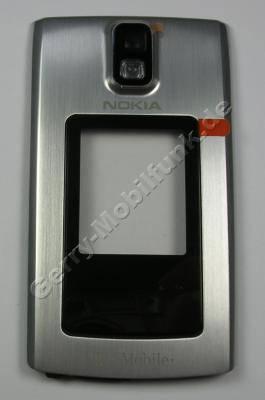 Oberschale Klappe T-Mobile silber Nokia 6650 fold original A-Cover incl. Kamerascheibe,Displayscheibe mit T-Mobile Logo