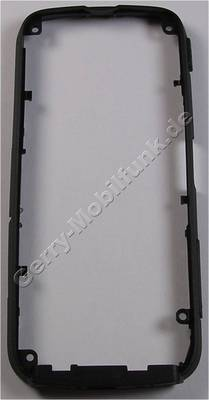 Mittelcover schwarz matt Nokia 5800 XpressMusic original Mittelrahmen full black mit Lautstärketaste und Kamertaste, Speicherkartenabdeckung, Simkartenabdeckung, USB-Abdeckung, Einschalttaste