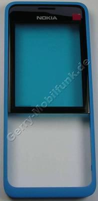 Oberschale cyan Nokia 301 DuaSim original A-Cover blau