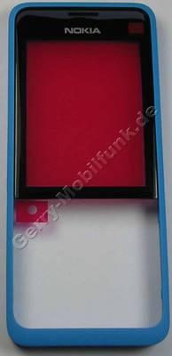 Oberschale cyan Nokia 301 SingleSim original A-Cover blau