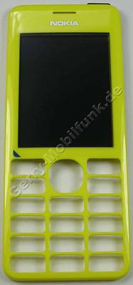 Oberschale gelb Nokia 206 original A-Cover mit Displayscheibe yellow