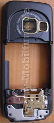 Unterschale schwarz Nokia N73 B-Cover Gehäuserahmen incl. Seitentasten, Simkartenhalter, Ladebuchse, Mikrofon, Kamerascheibe, Freisprechlautsprecher (Buzzer)