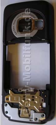 Unterschale deep plum Nokia N73 B-Cover Gehäuserahmen incl. Seitentasten, Simkartenhalter, Ladebuchse, Mikrofon, Kamerascheibe, Freisprechlautsprecher (Buzzer)