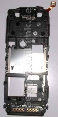C-Cover Nokia 5500 Mittelgehäuse, Mittelcover mit Freisprechlautsprecher, Buzzer,  Simkartenhalter, System-Konnektor, Anschlußleiste, Ladebuchse, Seitenschalter, Flexkabel seitlich am Rahmen