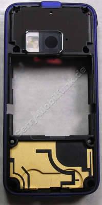Unterschale Nokia N81-3 vanilla3 original D-Cover Gehäuserahmen, Gehäuseträger incl. Kamerascheibe, Antennen, Vibrationsmotor, Ladebuchse, Seitentasten (Ein/Aus, Lautstärketaste, Verriegelungstaste Kamerataste), Headsetbuchse, Stereo-Lautsprecher ( 2 Freisprechlautsprecher, Buzzer ), Antennenmodul