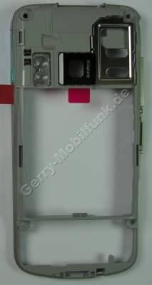 Unterschale, Gehäuseträger Nokia 6210 Navigator original C-Cover incl. Kamerascheibe, Abdeckung Speicherkartenschacht, Lautstärke Taste, Blitzlichtglas, Simkartenhalter