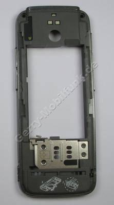 Unterschale, Gehäuseträger grau Nokia 5630 XpressMusic Gehäuseträger mit Simkartenhalter, Speicherkartenabdeckung, Seitentasten für Lautstärke, Musikplayer, Fototaste, Foto-LEDs ( grey )
