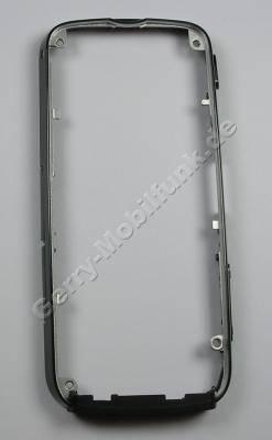 Mittelcover Mittelrahmen black Nokia 5800 XpressMusic Gehäuserahmen schwarz glänzend mit Lautstärketaste und Kamertaste, Speicherkartenabdeckung, Simkartenabdeckung, USB-Abdeckung, Einschalttaste