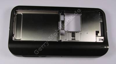 Mittelcover, Unterschale schwarz Nokia N800 original Gehäuserahmen incl. Simkartenhalter, Ladebuchse, Mikrofon, Eingabestift ( Styluspen), Abdeckung Simkartenschacht, Standfuß
