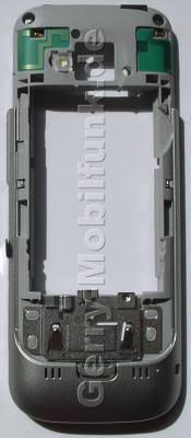 Gehäuserahmen,Gehäuseträger silber Nokia C5 original B-Cove warm silverr, Backcover mit Blitzlicht, Antennen, Headset Konnektor, Ladebuchse,  Halter für Simkarte