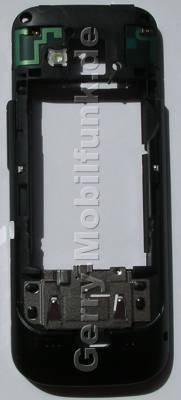 Gehäuserahmen,Gehäuseträger schwarz Nokia C5 original B-Cove blackr, Backcover mit Blitzlicht, Antennen, Headset Konnektor, Ladebuchse,  Halter für Simkarte