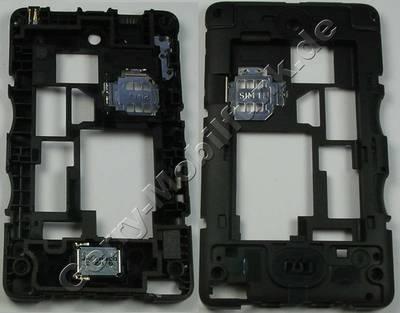 Unterschale, Gehäuseträger Nokia Asha 501 Dualsim original D-Cover, Gehäuserahmen incl. Ladebuchse, Simkartenhalter und Freisprechlautsprecher