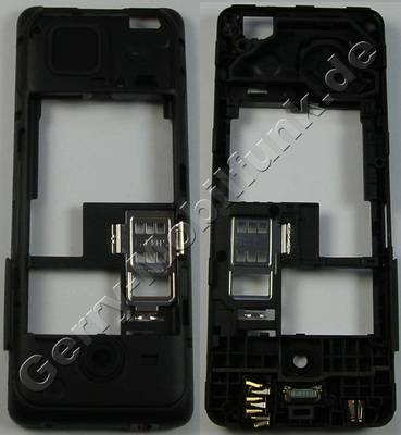 Unterschale, Gehäuseträger schwarz Nokia 206 DualSim original D-Cover black