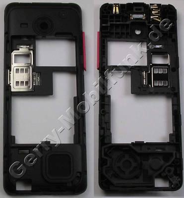 Unterschale, Gehäuseträger magenta Nokia 206 DualSim original D-Cover pink
