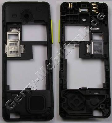 Unterschale, Gehäuseträger gelb Nokia 206 DualSim original D-Cover yellow