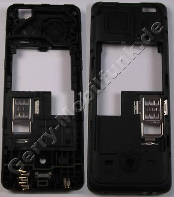 Unterschale, Gehäuseträger schwarz Nokia 206 SingleSim original D-Cover black