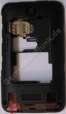 Unterschale schwarz Nokia Asha 230 original D-Cover Gehäuserahmen, Gehäuseträger Singlesim Ausführung