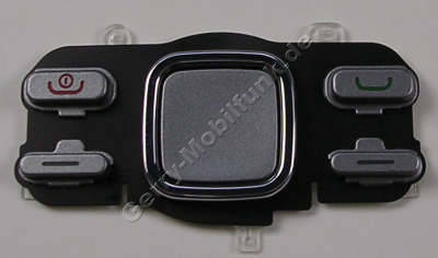 Menütastenmatte silber Nokia 6600i slide original Tastatur Navigationstasten silver, Tastenmatte