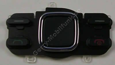 Menütastenmatte schwarz Nokia 6600i slide original Tastatur Navigationstasten black, Tastenmatte