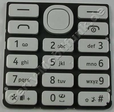 Tastenmatte weiss Nokia 206 Dualsim original Tastatur white