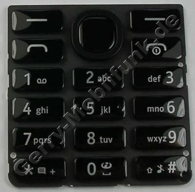 Tastenmatte schwarz Nokia 206 SingleSim original Tastatur black