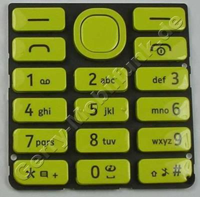 Tastenmatte gelb Nokia 206 SingleSim original Tastatur yellow