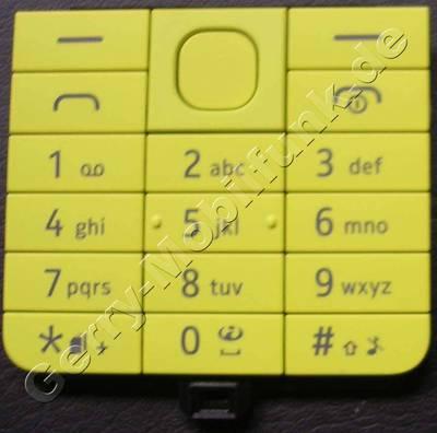 Tastenmatte gelb Nokia 220 original Tastaturmatte yellow Dualsim