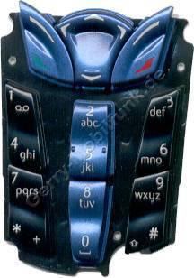 Tastenmatte original Nokia 7250 Blau deutsche Tastenbelegung