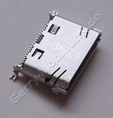 Externer Konnektor Samsung SGH-E500 original Ladeanschluß, Headsetanschluß, Datenkabelanschluß, Mini-USB-Buchse