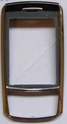 Oberschale Schieber Samsung D900i original Cover Silver, Silber