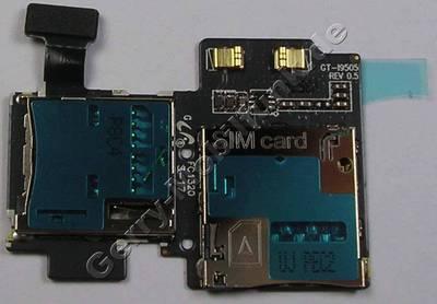 Simkarten, Speicherkartenleser Samsung i9505 Galaxy S4 LTE Kartenlesermodul für Simkarte und Speicherkarte