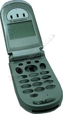Oberschale incl. Display Motorola V66 silber Frontklappe,Backcover,Akkuabdeckung, Displayscheibe, LCD-Display samt Simkartenleser
