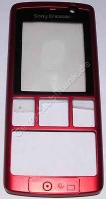 Oberschale rot SonyEricsson K610i original Cover, Vorderschale mit Displayscheibe