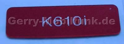 Logo Label SonyEricsson K610i rot, Logobatch original Ersatzteil