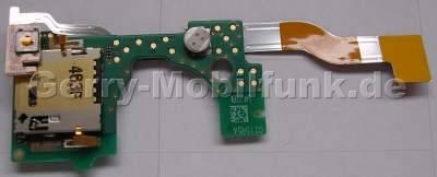 Simflex SonyEricsson M600i original Flexfolie Simkartenleser, Speicherkartenleser, Flexkabel mit Pufferbatterie