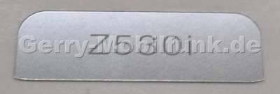Logolabel außen SonyEricsson Z530i original Logobatch