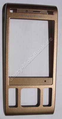 Oberschale Display kupfer SonyEricsson C905 original Front Cover vom Schieber