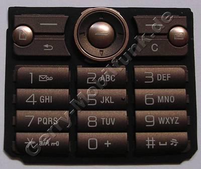 Tastenmatte braun SonyEricsson G700i Tastaturmatte sandy brown