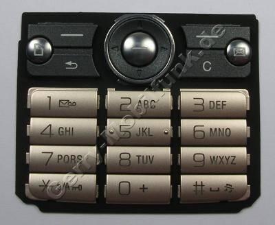 Tastenmatte silber SonyEricsson G700i Tastaturmatte latin silk bronze
