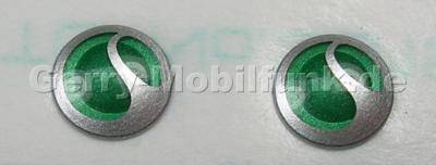 2 Stück Logolabel rund 5,5mm SonyEricsson G502i rundes SonyEricsson Symbol