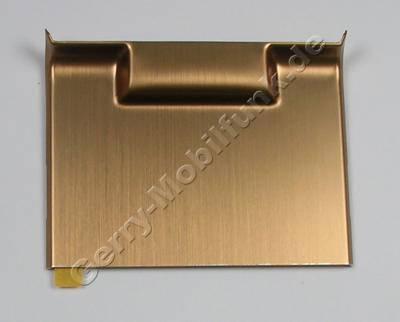 Abdeckung gold SonyEricsson C905 hintere Abdeckung vom Slide für goldfarbige Geräteversion, Deko Plate black