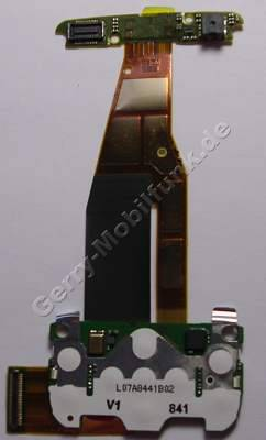 Flexfolie Nokia 6600i slide original Flexkabel, Verbindungskabel der beiden Baugruppen mit Tastaturmodul der Menütasten incl. Mikrofon