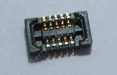 SMD Konnektor seitliches Flexkabel Nokia E63 original Anschlußbuchse des Seitenflex auf der Platine